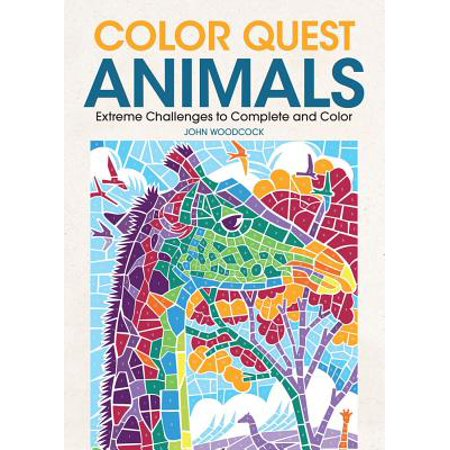 Color Quest Animals : Extreme Challenges to Complete and Color (Animals To Color)