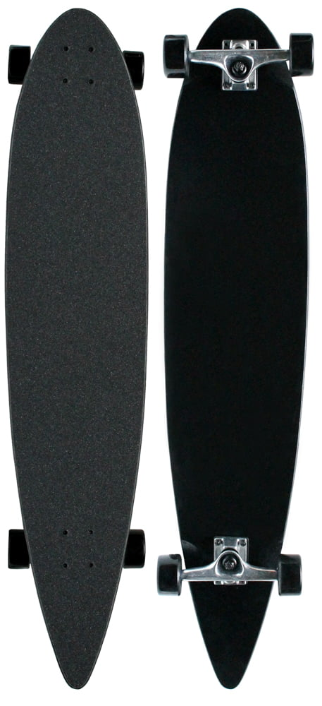MOOSE Black Longboard Complete 9 x 43 Pintail Blank by Direct Skates