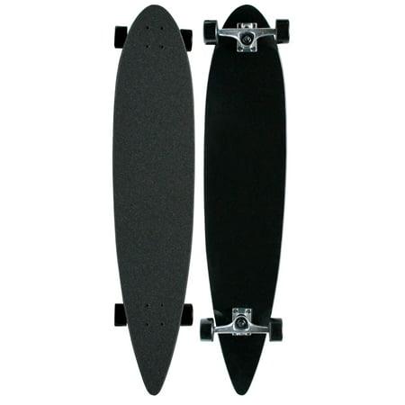 Cheap Complete Longboards - MOOSE Black Longboard Complete 9 x 43 Pintail Blank