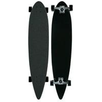 MOOSE Black Longboard Complete 9 x 43 Pintail Blank