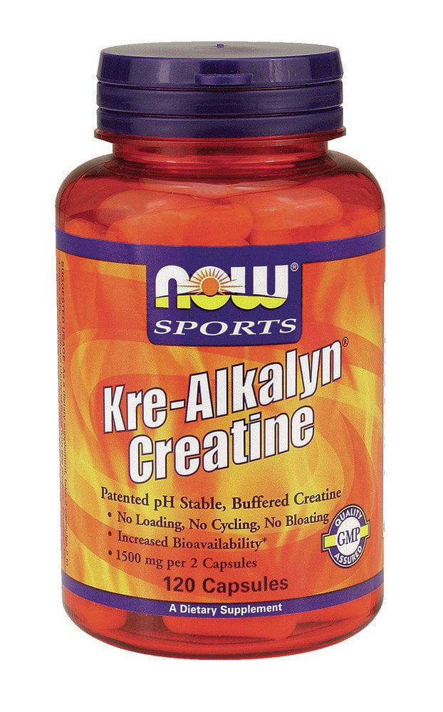 Kre-Alkalyn Creatine Now Foods 120 Caps