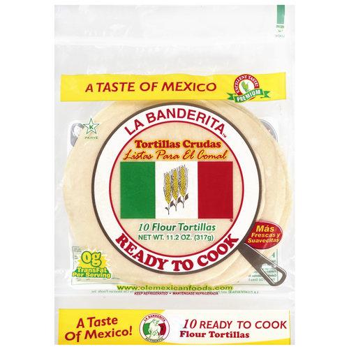 La Banderita Flour Tortillas, 10 Count