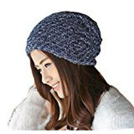 Crochet Winter Beanie - Unisex Winter Plicate Baggy Beanie Knit Crochet Ski Hat Oversized Cap Hat Warm