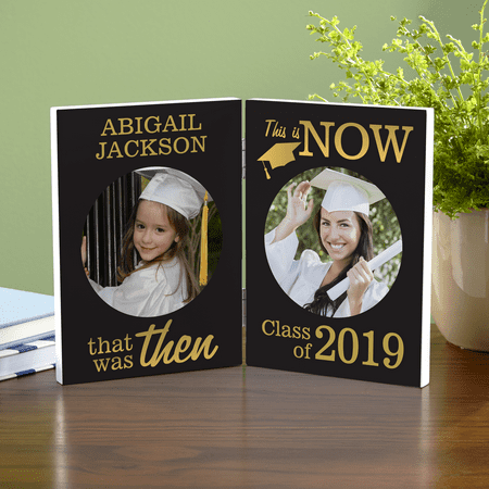 Personalized Then and Now Graduation Photo Panel Personalized Graduation Photo