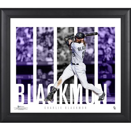 "Charlie Blackmon Colorado Rockies Framed 15"" x 17"" Player Panel Collage"