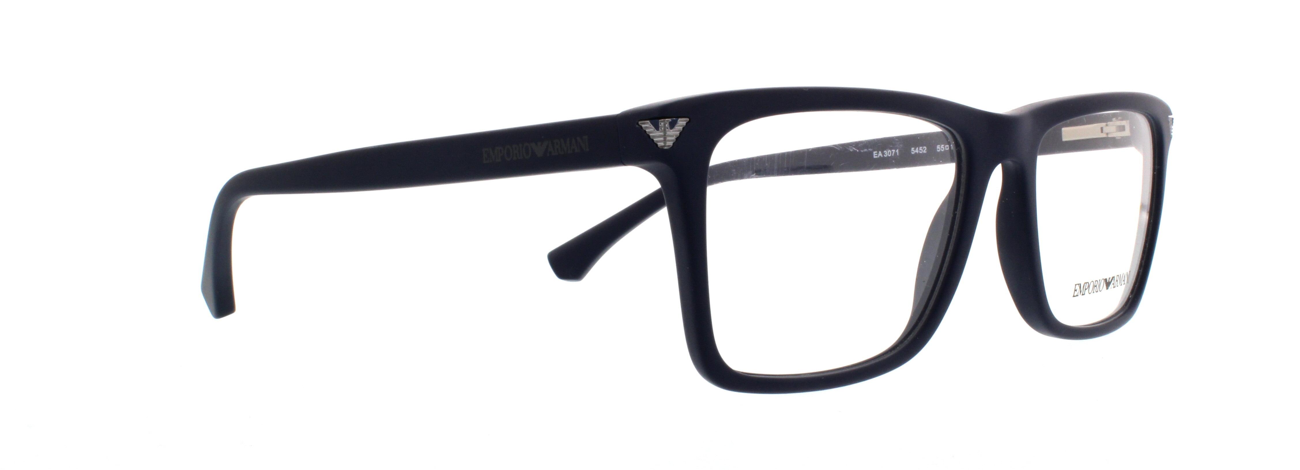 3b5a18fcb7a EMPORIO ARMANI Eyeglasses EA 3071 5452 Matte Blue 55MM - Walmart.com