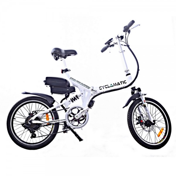 Cyclamatic CX4 Pro Suspension Foldaway Electric Bike White