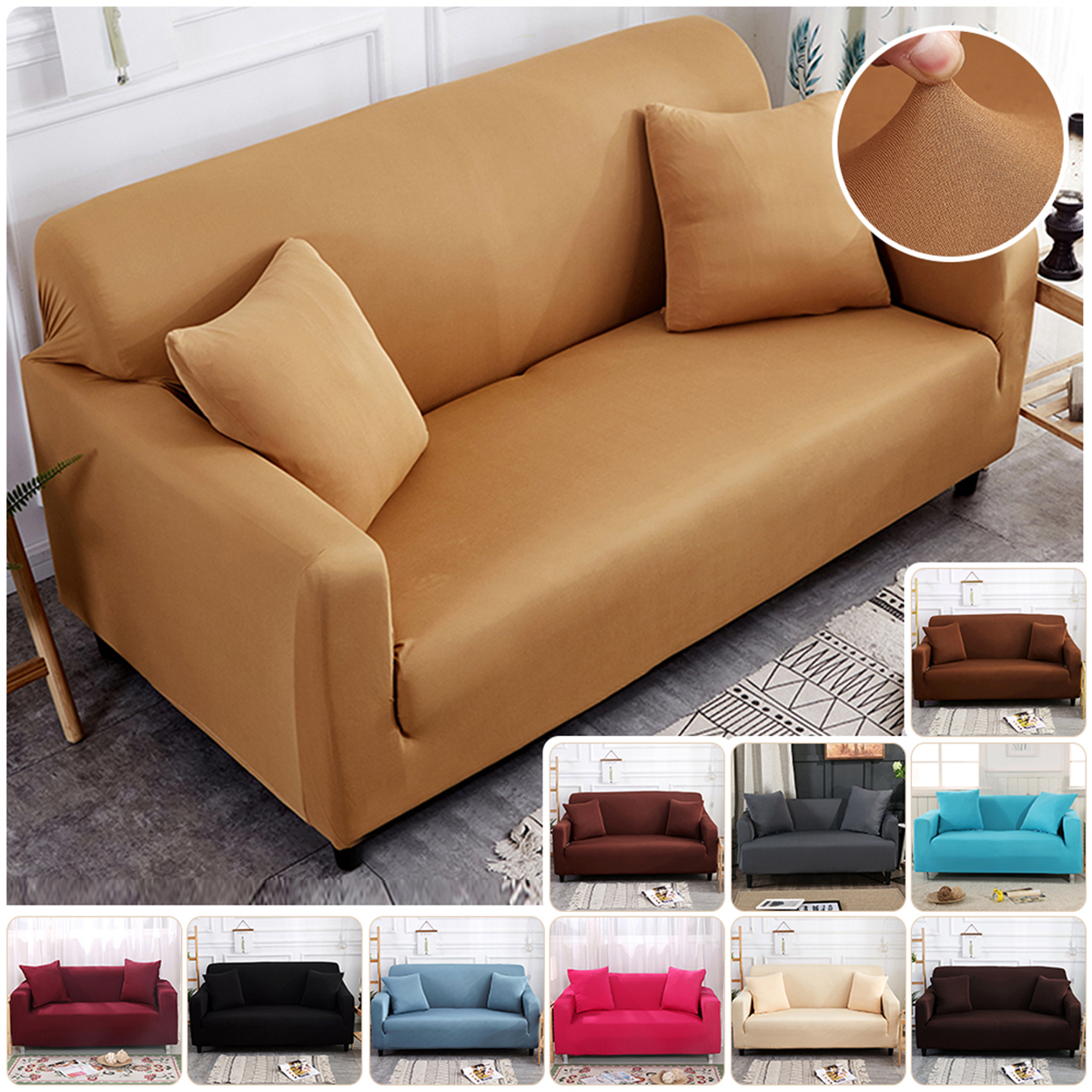 1-4 Seater Sofa Recliner Covers Slipcover Stretch Furniture Cover Protector DIY