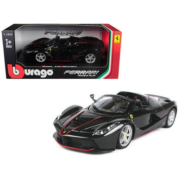 Ferrari Laferrari F70 Aperta Black 1 24 Diecast Model Car By Bburago Walmart Com Walmart Com