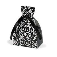 Black & White Dress Favor Boxes