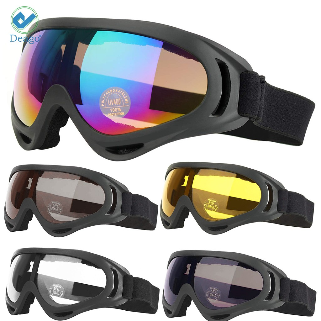 Deago Ski Snowboard Goggles UV Protection Anti-Fog Snow Goggles for Men Women Youth