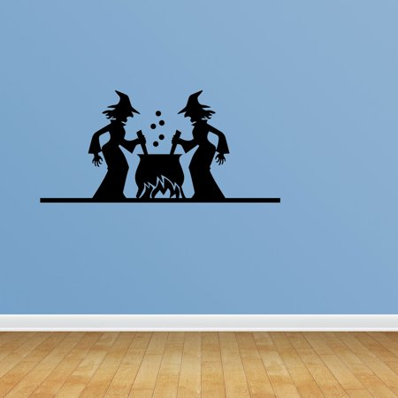 Halloween Scene Witch Cooking Spell Potion Witch Decor Witch Decal Witches Brew Broom Cauldron Halloween Decorations Halloween Decor Halloween Decal Wall Home Gothic Decor PC661 - Witch Potion Ingredients For Halloween