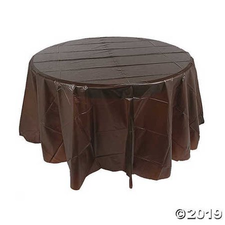 Chocolate Brown Round Table Cover - Tableware & Table Covers ()
