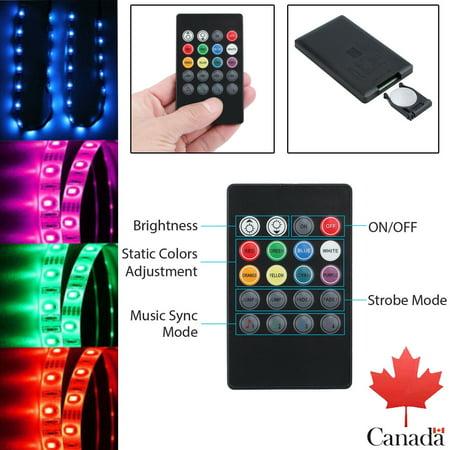 20 Key Led Ir Remote Sound Sensor Music Controller For 5050 3528 Rgb Light Strip Walmart Canada