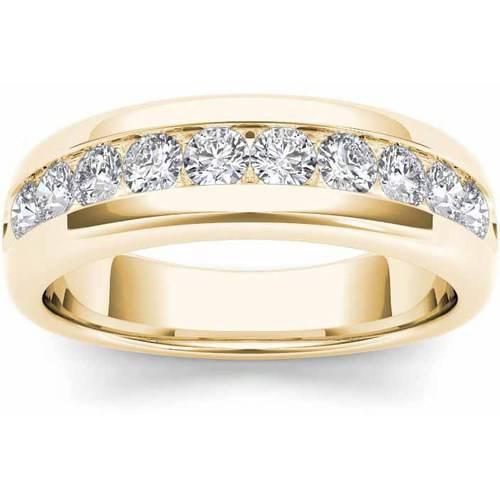 Imperial 7/8 Carat T.W. Diamond Men's 14kt Yellow Gold Wedding Band