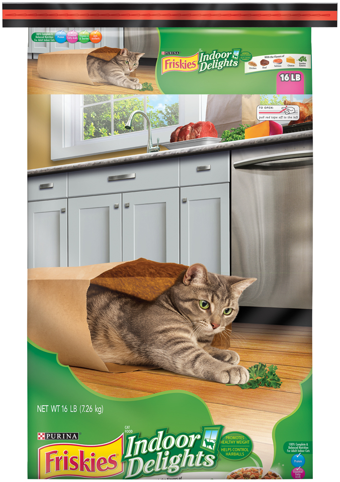 Friskies Indoor Delights Chicken, Beef, Salmon, Cheese, Garden Greens Adult Dry Cat Food, 16 lb by Nestle Purina Petcare Company