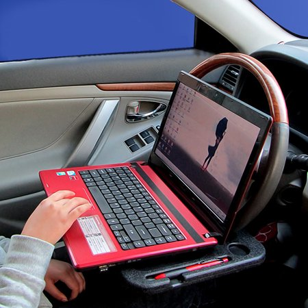 Steering Wheel Desk Steering Laptop Table Steering Wheel Eating Tray Heat Resistant Abs Holder Notebook Desk Food Drink Stand Holder Car Accessorieson Sale