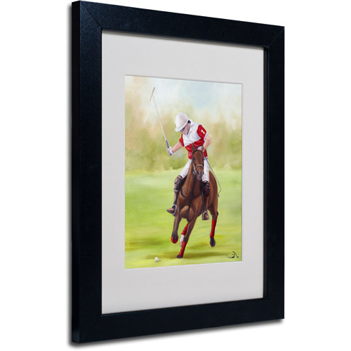"Trademark Fine Art ""Horse of Sport I"" Canvas Art by Michelle Moate, Black Frame"