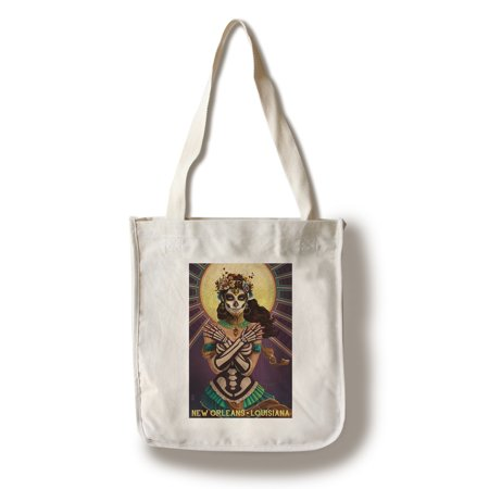 New Orleans, Louisiana - Day of the Dead - Crossbones - Lantern Press Artwork (100% Cotton Tote Bag - (New Orleans Day Of The Dead 2018)