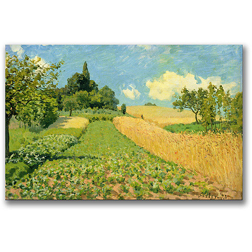 "Trademark Fine Art ""The Cornfield"" Canvas Wall Art by Alfred Sisley"