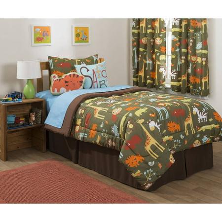 Mainstays Kids Safari Comforter Set 40 Decorative Pillows And Shams Magnificent Safari Decorative Pillows