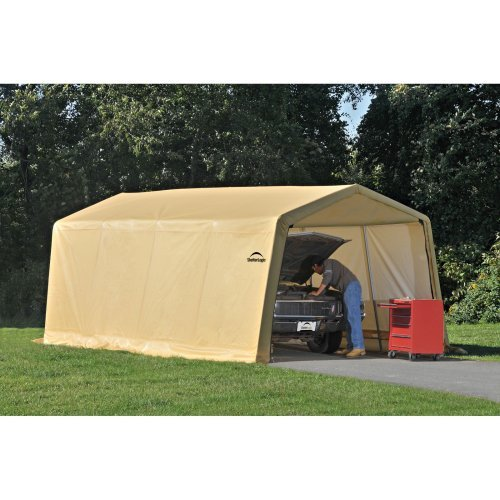 ShelterLogic Autoshelter 10'x20'x8' Peak Style Garage in Sandstone