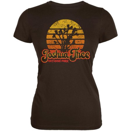 National Park Retro 70s Sunset Joshua Tree Juniors Soft T Shirt
