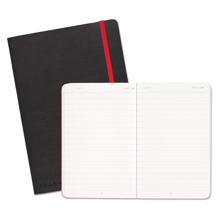 Black n' Red Soft Cover Notebook, Legal Rule, Black Cover, 8 1/4 x 5 3/4, 71 Sheets/Pad -JDK400065000 (Black Spiral)