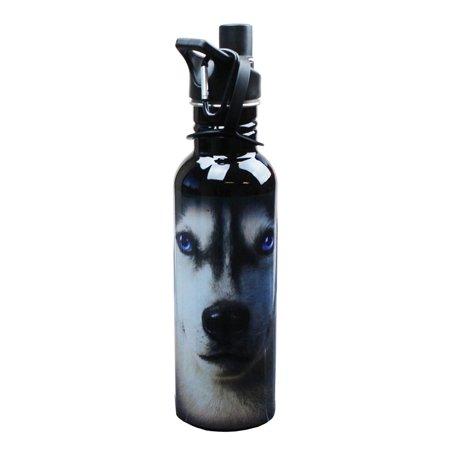 - The Mountain Siberian Husky Face Water Bottle