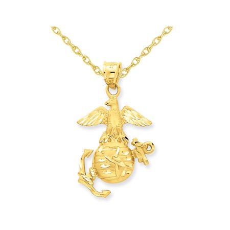 U.S. Marine Corps Pendant Necklace in 14K Yellow Gold - image 1 of 2