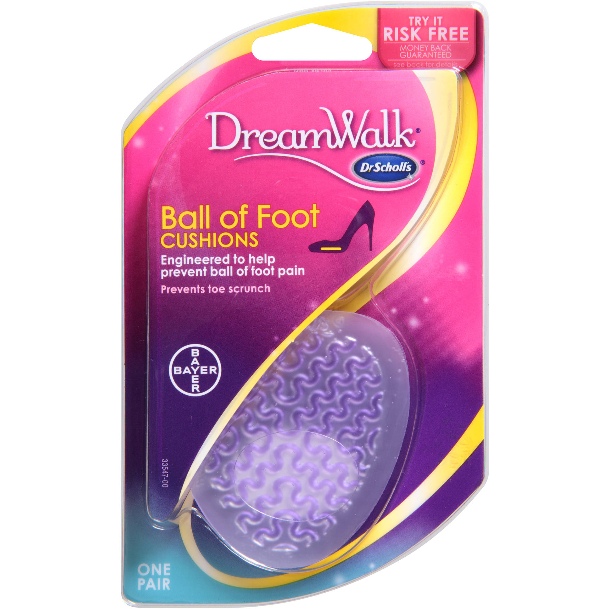 Dr. Scholl's DreamWalk Ball of Foot Cushions, 1 pr