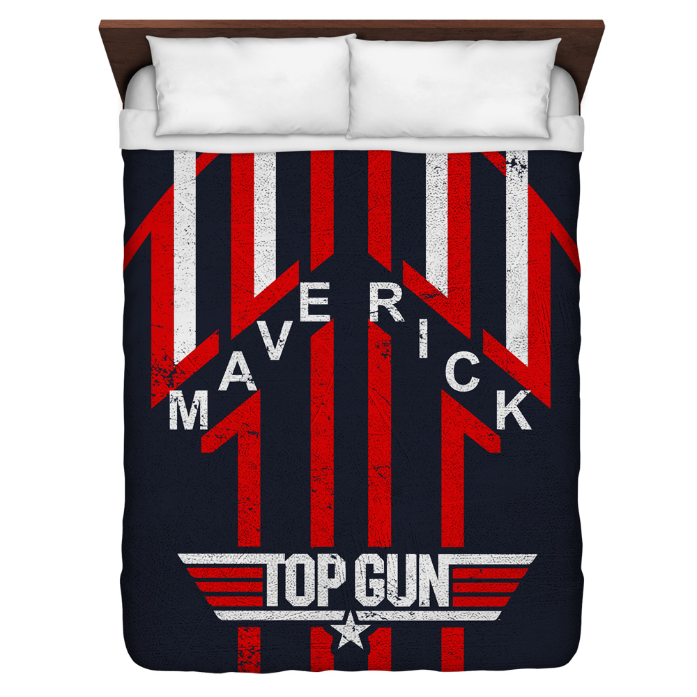 Top Gun Maverick Queen Duvet Cover White 88X88