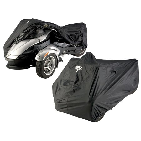 Nelson Rigg CAS-360 Can-Am Spyder RS Full Black Cover - Nelson Rigg Mini Sport Tail