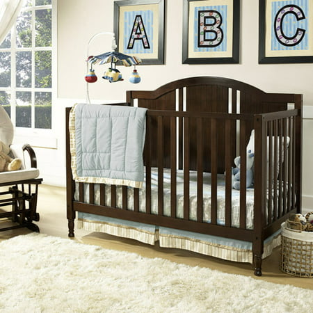 Baby Relax Kinley 4-in-1 Fixed-Side Convertible Crib w/Mattress, Espresso