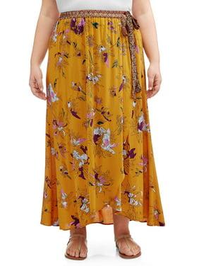 bc223280df Product Image Women's Plus Size Women's Plus Faux Wrap Skirt