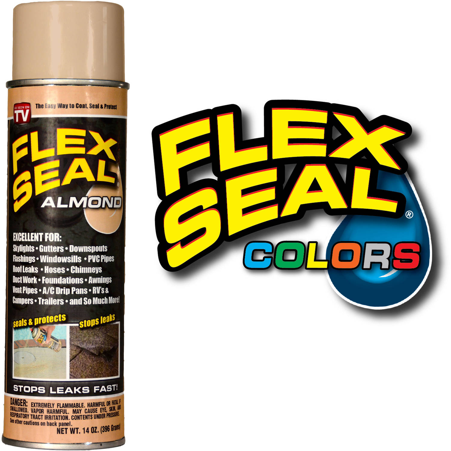 As Seen on TV Flex Seal Spray, Almond, 14 oz