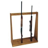 Evans Sports TC29 Solid Pine Standing Rifle Storage Rack Holds/Displays 7 Guns