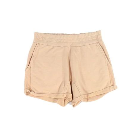 Blush Pink Womens Medium Pull On Cuffed Mini Shorts $60 M