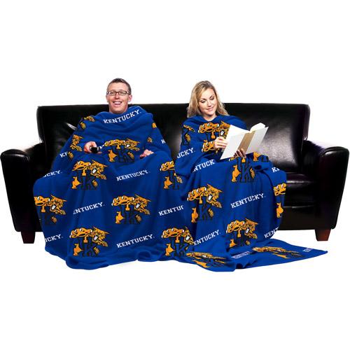 NCAA Kentucky Wildcats Blanket with Sleeves