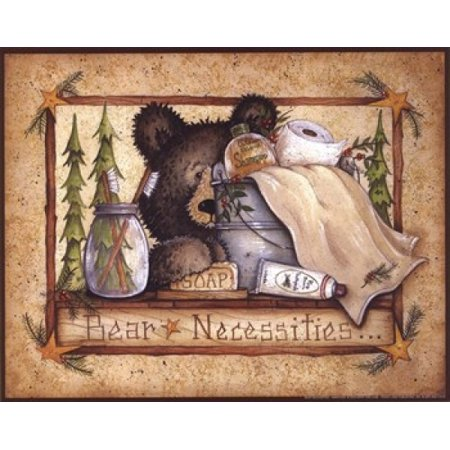 Bear Necessities Poster Print by Mary Ann June (10 x 8)