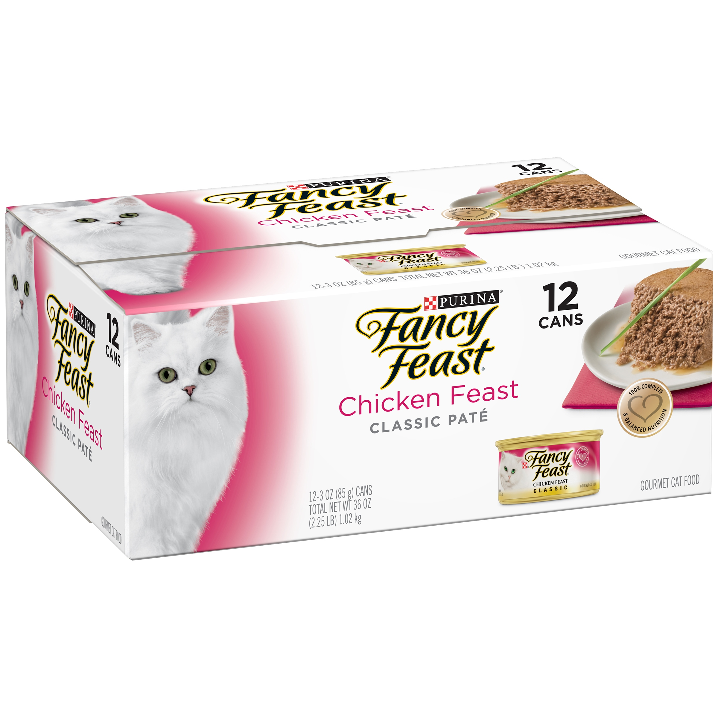 Purina Fancy Feast Classic Chicken Feast Collection Cat Food 12-3 oz. Cans