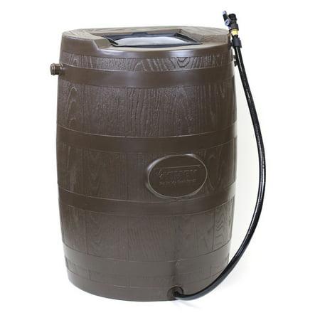 Carnelian Barrel - YIMBY Half Barrel Rain Barrel - Brown