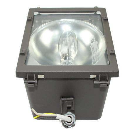 NSI Lighting FLM705 Multi-Purpose Medium Flood Light Fixture Wall Pack With Lamp; Bronze 70W - Medium Wallpack