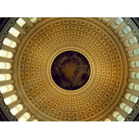 Architectural Details of the Ceiling of Capitol Building Rotunda, Washington DC, USA Print Wall (Best Architectural Buildings In The World)