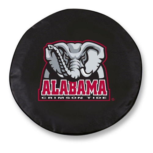 NCAA Tire Cover by Holland Bar Stool - University of Alabama Elephant, Black - 34'' x 8''