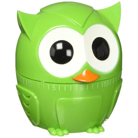 Adorable Kitchen (Owlet 60 Minute Kitchen Timer - Green, Adorable wide eyed Green owl kitchen timer doubles as counter top décor By Kikkerland )