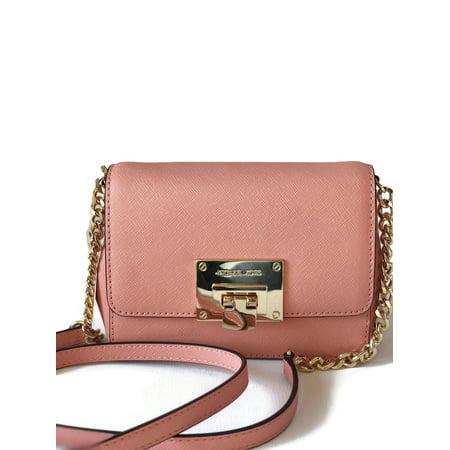 02abf9066bba Michael Kors Tina Small Saffiano Leather Clutch Crossbody Bag - Peach -  Walmart.com