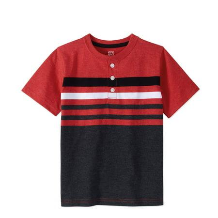 fb8e4e4dc 365 Kids From Garanimals Boys'' Short Sleeve Chest Striped Henley As ...