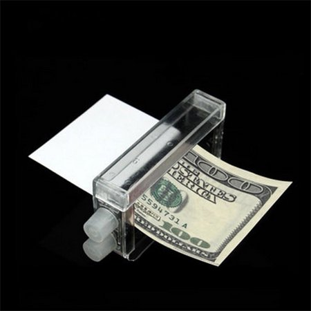 Magic Tricky Money Maker Printing Machine Puzzle Change Paper to Money Toys Color:Transparent color