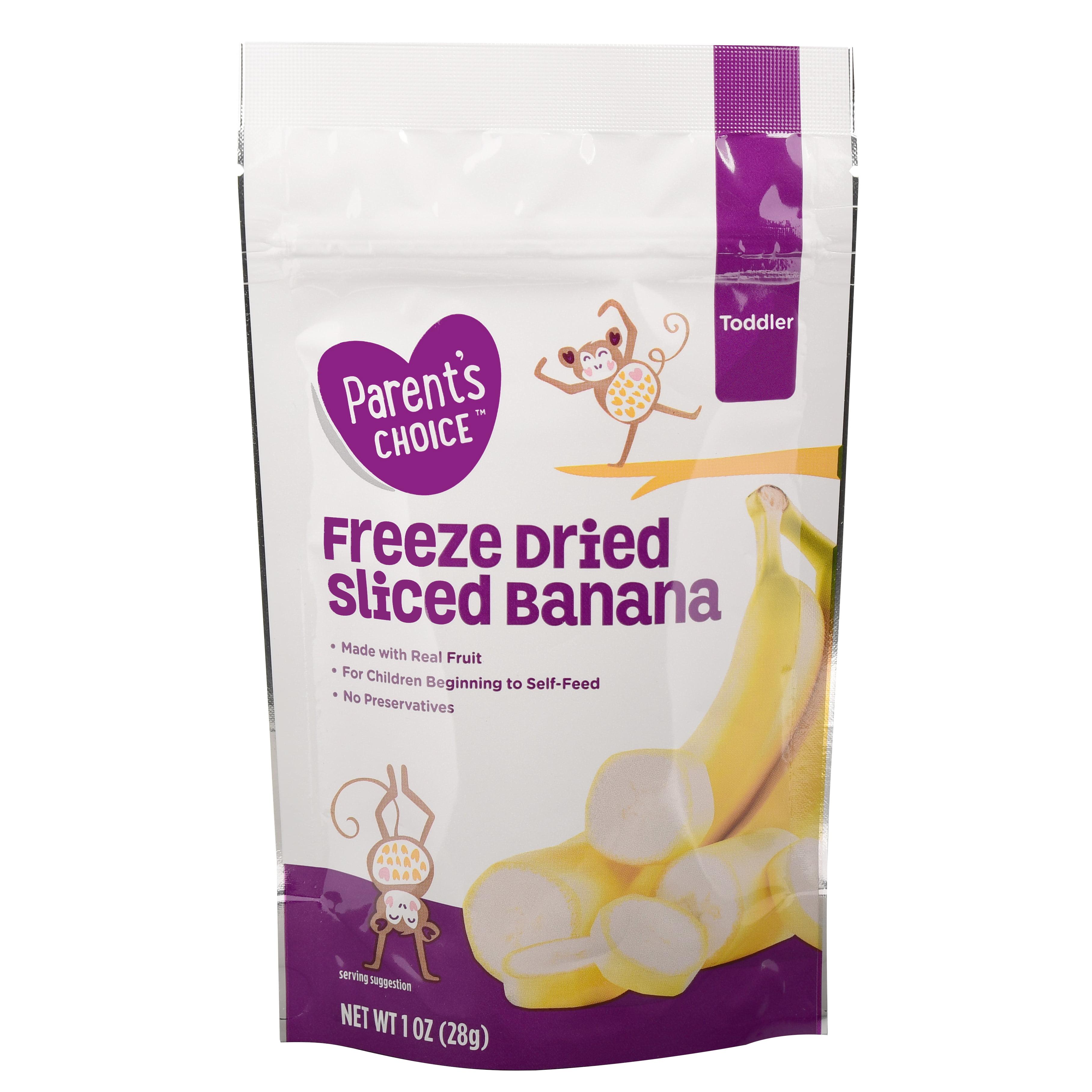 Parent's Choice Freeze Dried Sliced Banana, Toddler, 1 oz